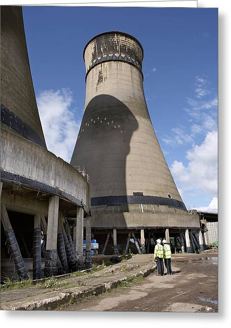 24th Greeting Cards - Tinsley Cooling Towers Demolition Greeting Card by Mark Sykes