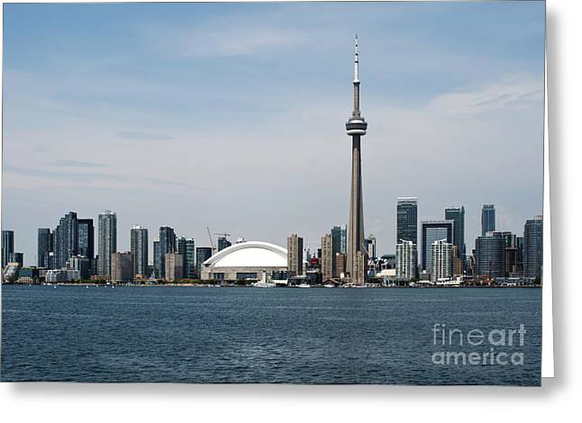 Spectacular Greeting Cards - Toronto skyline Greeting Card by Blink Images