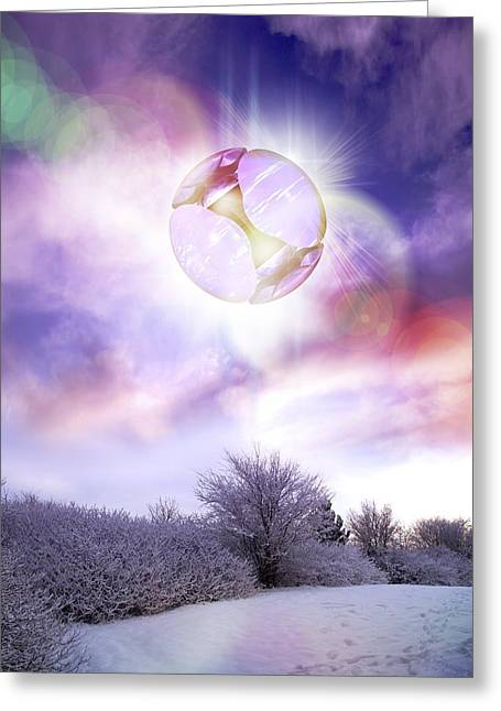 Snow-covered Landscape Photographs Greeting Cards - Ufo, Artwork Greeting Card by Victor Habbick Visions