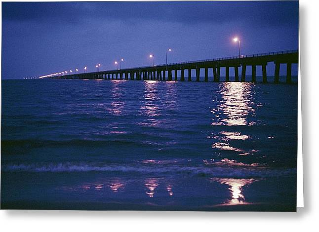 Chesapeake Bay Bridge Greeting Cards - Untitled Greeting Card by Robert Madden