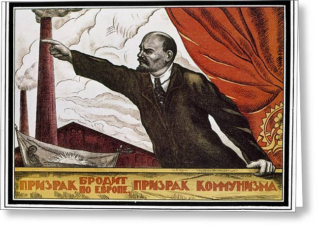 Agitprop Greeting Cards - Vladimir Lenin (1870-1924) Greeting Card by Granger