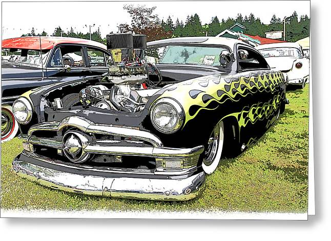 50 Ford Hot Rod Greeting Card by Steve McKinzie