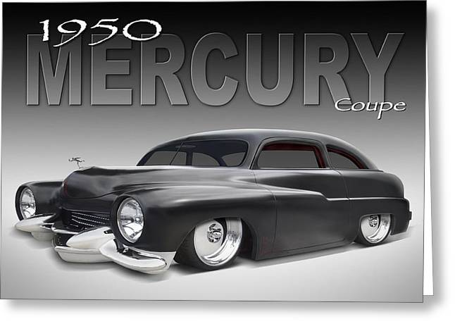 Lowrider Greeting Cards - 50 Mercury Coupe Greeting Card by Mike McGlothlen