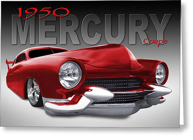 Lowrider Greeting Cards - 50 Mercury Lowrider Greeting Card by Mike McGlothlen