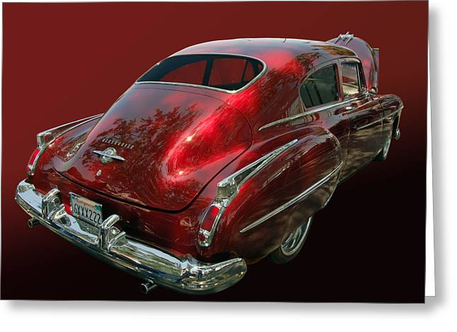 Slammer Greeting Cards - 50 Olds Fastback Greeting Card by Bill Dutting