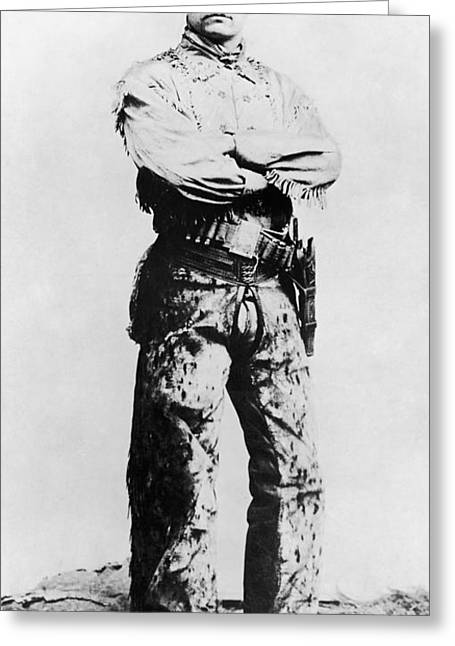 Macho Greeting Cards - Theodore Roosevelt Greeting Card by Granger