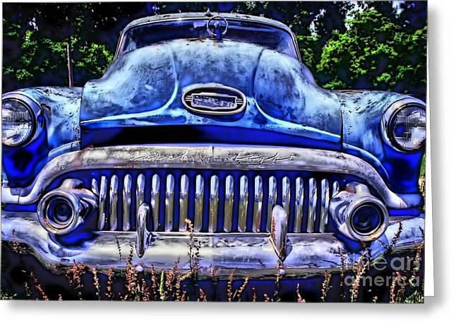 Photographers College Park Greeting Cards - 50s Buick Eight Greeting Card by Corky Willis Atlanta Photography