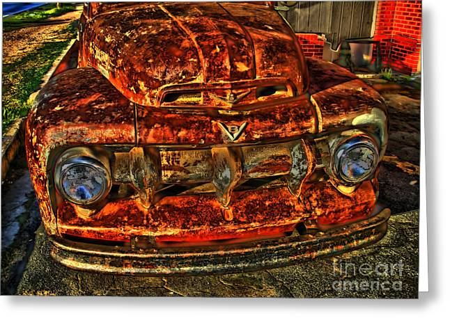 Photographers Decatur Greeting Cards - 50s Ford Truck Greeting Card by Corky Willis Atlanta Photography