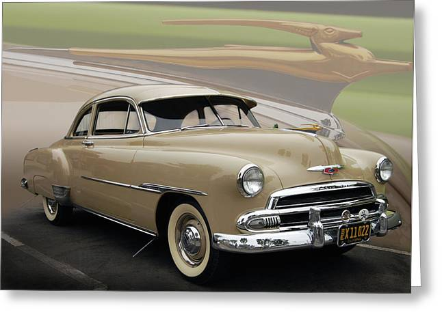 Slammer Greeting Cards - 51 Chevrolet Deluxe Greeting Card by Bill Dutting