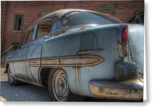 Rusted Cars Greeting Cards - 52 Chevy Bel Air Greeting Card by Jane Linders