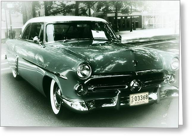 Layered Digital Art Greeting Cards - 52 Ford Victoria Hard Top Greeting Card by Cathie Tyler