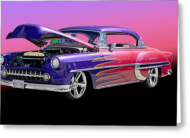 Ford Model T Car Greeting Cards - 53 Pontiac Greeting Card by Jim  Hatch