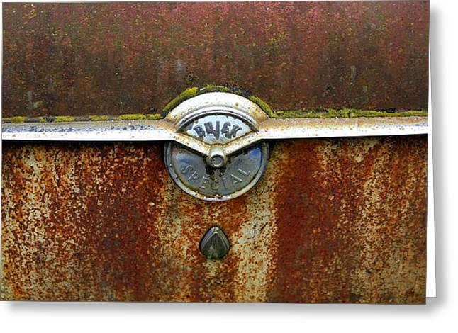 54 Buick Emblem Greeting Card by Steve McKinzie