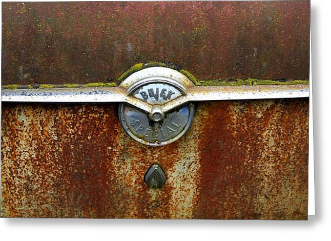 54 Buick Emblem Greeting Card by Steve McKinzie
