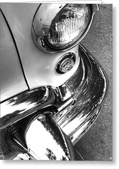 1955 Buick Greeting Cards - 55 Buick Greeting Card by Joe Schofield