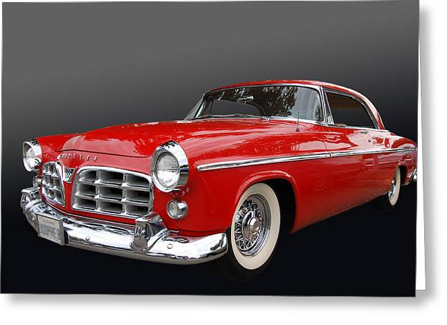 Mopar Collector Greeting Cards - 55 Chrysler 300 Greeting Card by Bill Dutting