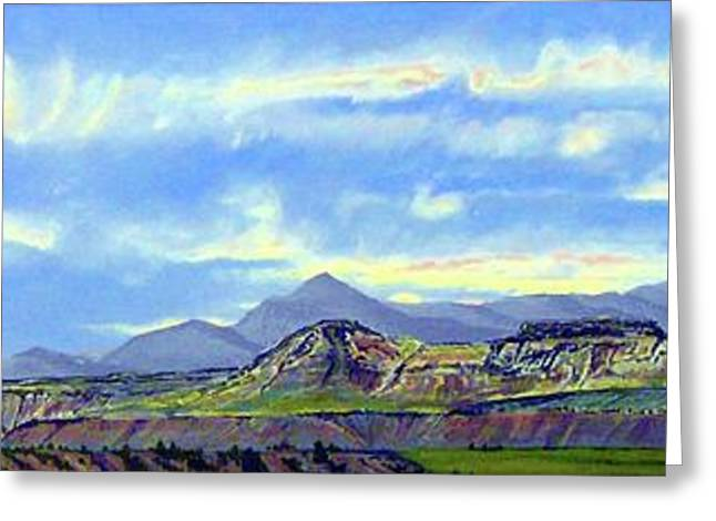 The Plateaus Greeting Cards - Earth Light Series Greeting Card by Len Sodenkamp