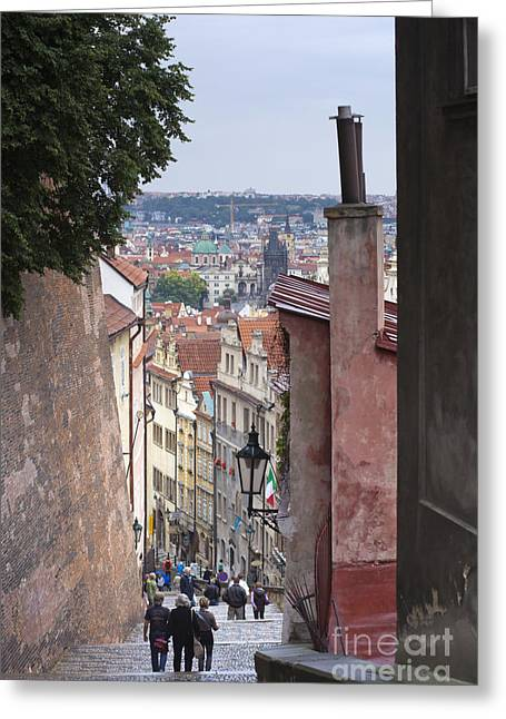 Urban Pyrography Greeting Cards - Prague Greeting Card by Andre Goncalves