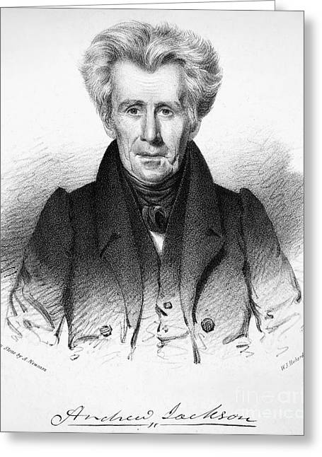19th Century America Greeting Cards - Andrew Jackson (1767-1845) Greeting Card by Granger