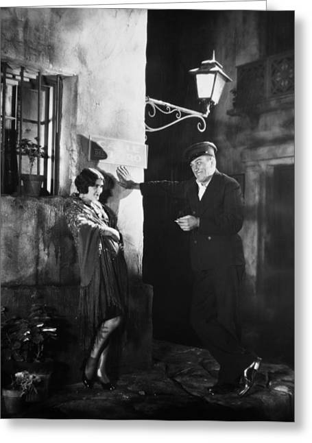 Streetlight Greeting Cards - Silent Film Still: Couples Greeting Card by Granger
