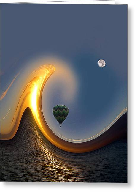 Baloon Greeting Cards - 568 Greeting Card by Peter Holme III