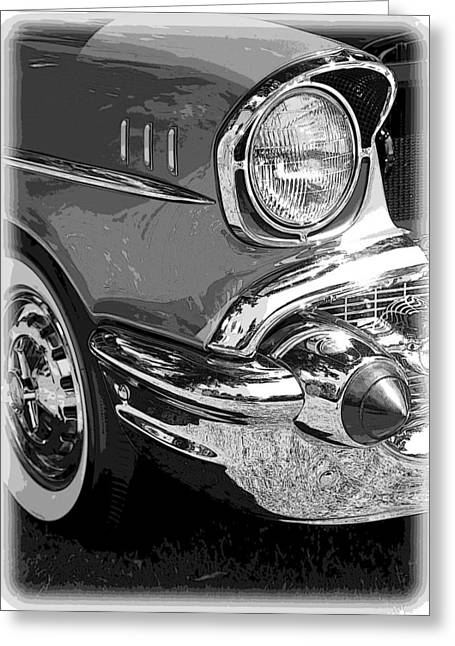 1949 Plymouth Greeting Cards - 57 Chevy  Greeting Card by Steve McKinzie
