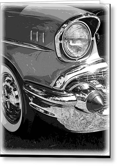 57 Chevy  Greeting Card by Steve McKinzie