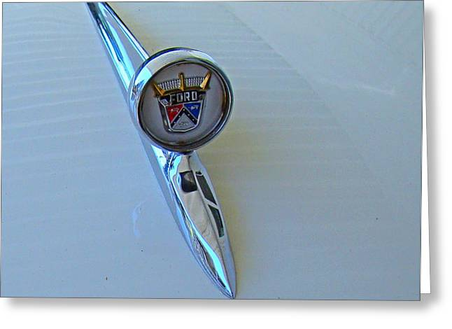 57 Fairlane 500 Emblem Greeting Card by Nick Kloepping