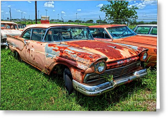 Photographers Decatur Greeting Cards - 57 Ford at The Auto Ranch Greeting Card by Corky Willis Atlanta Photography