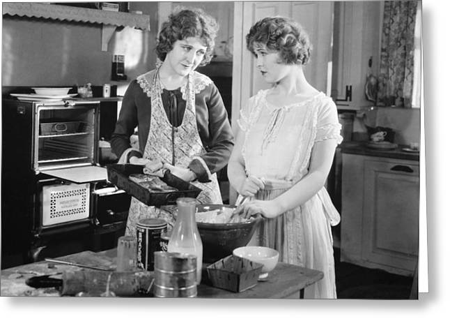 Housework Greeting Cards - Silent Film Still Greeting Card by Granger