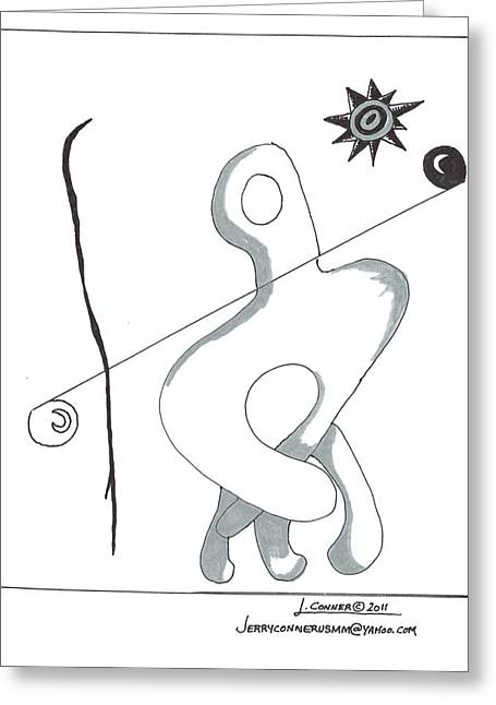 Photoshop Drawings Greeting Cards - Picasso Greeting Card by Jerry Conner