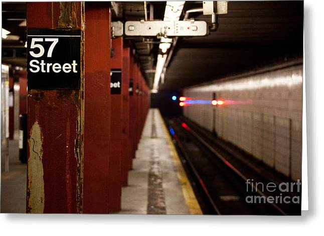 Steven Gray Greeting Cards - 57th Street Station Greeting Card by Steven Gray