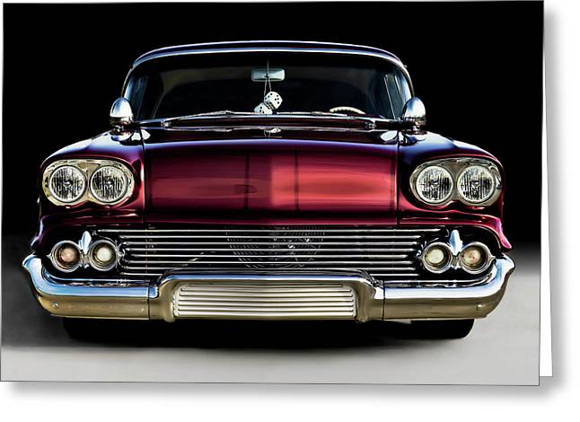 Lowrider Greeting Cards - 58 Impala Custom Greeting Card by Douglas Pittman