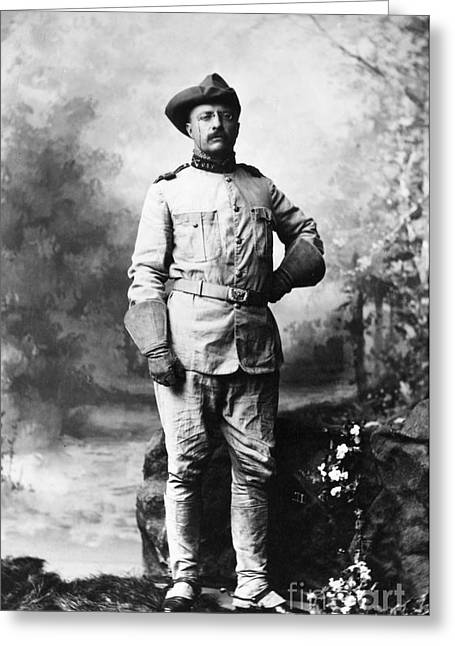 U.s Army Greeting Cards - Theodore Roosevelt Greeting Card by Granger