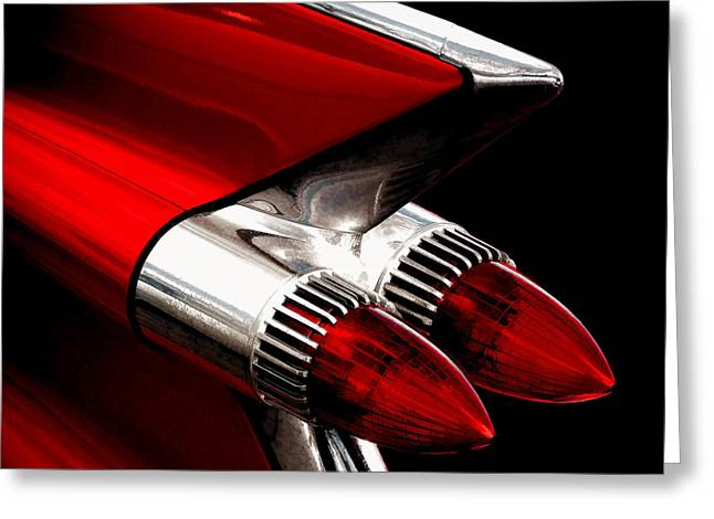 '59 Caddy Tailfin Greeting Card by Douglas Pittman
