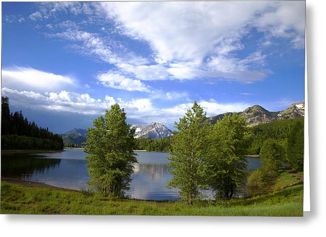 Rocky In Spring Greeting Cards - Mountain Lake Greeting Card by Mark Smith