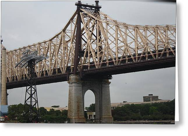 Fdr Drive Greeting Cards - 59th Street Bridge Greeting Card by Cathy Brown