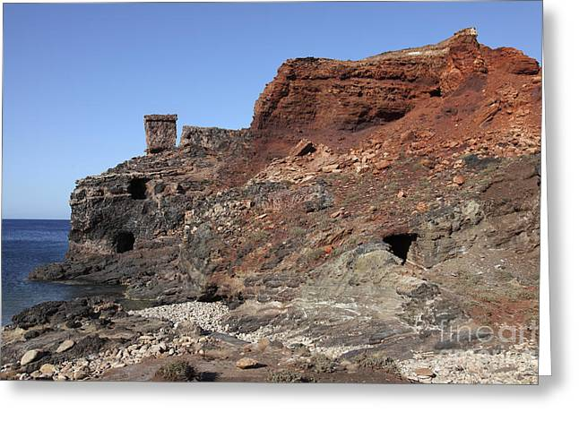 Water In Caves Greeting Cards - Abandoned Manganese Mine At Cape Vani Greeting Card by Richard Roscoe