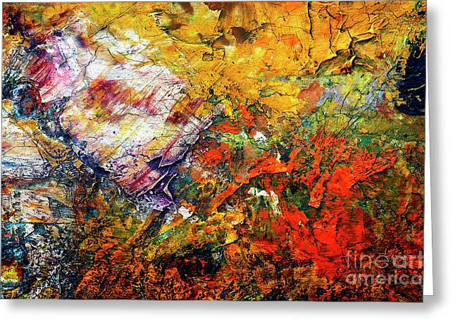 Spectrum Paintings Greeting Cards - Abstract Greeting Card by Michal Boubin