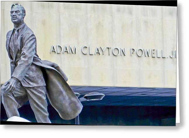 Adam Clayton Greeting Cards - Adam Clayton Powell Jr. Greeting Card by Theodore Jones