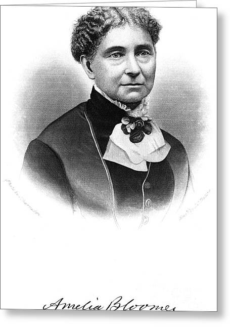 Reformer Greeting Cards - Amelia Bloomer (1818-1894) Greeting Card by Granger