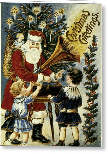 Best Sellers -  - Nicholas Greeting Cards - American Christmas Card Greeting Card by Granger