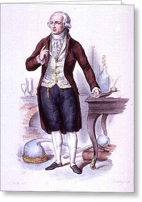 Boilly Greeting Cards - Antoine-laurent Lavoisier, French Greeting Card by Science Source