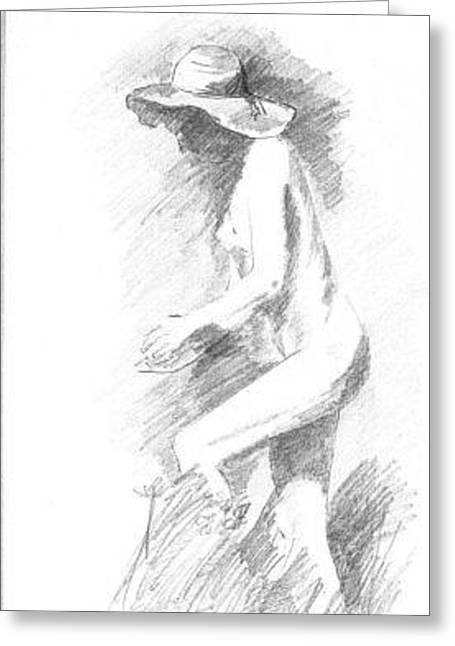 Alfred George Stevens Greeting Cards - Art Greeting Card by Marek Burbul