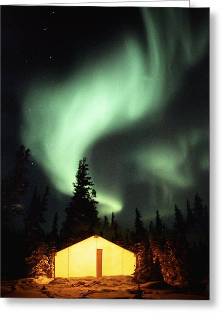 Light Emission Greeting Cards - Aurora Borealis Greeting Card by Chris Madeley
