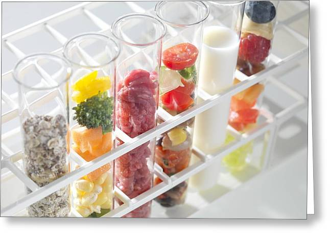 Component Greeting Cards - Balanced Diet Greeting Card by Tek Image