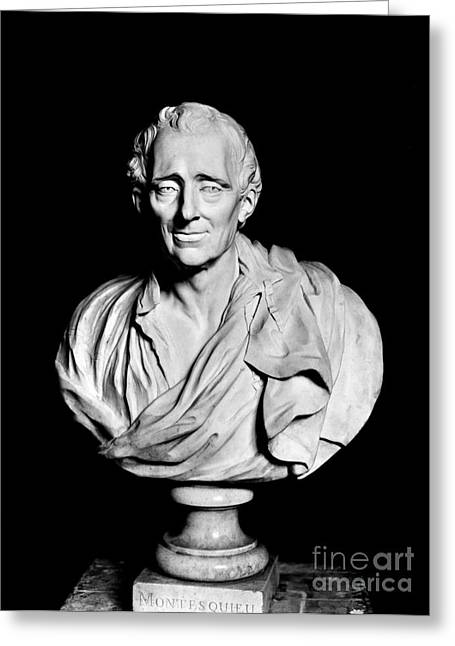 Portrait Sculpture Photograph Greeting Cards - Baron De Montesquieu Greeting Card by Granger
