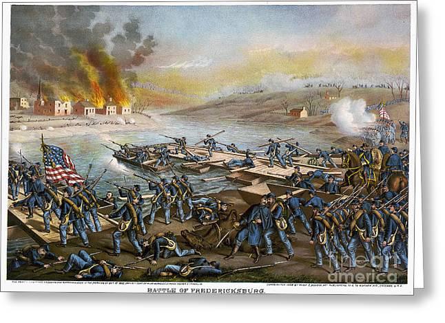 Battle Of Fredericksburg Greeting Card by Granger
