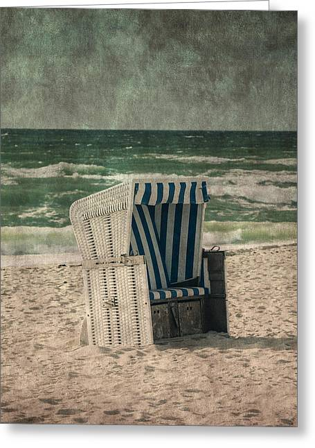 Coastal Dunes Greeting Cards - Beach Chair Greeting Card by Joana Kruse