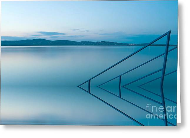 Dribblet Greeting Cards - Blue lake Greeting Card by Odon Czintos